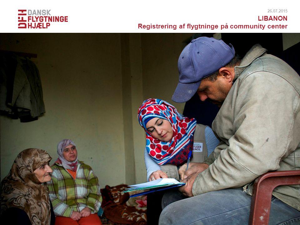 Registrering af flygtninge på community center