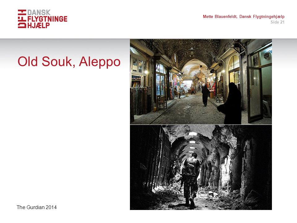 Old Souk, Aleppo The Gurdian 2014