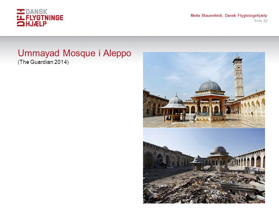 Ummayad Mosque i Aleppo (The Guardian 2014)