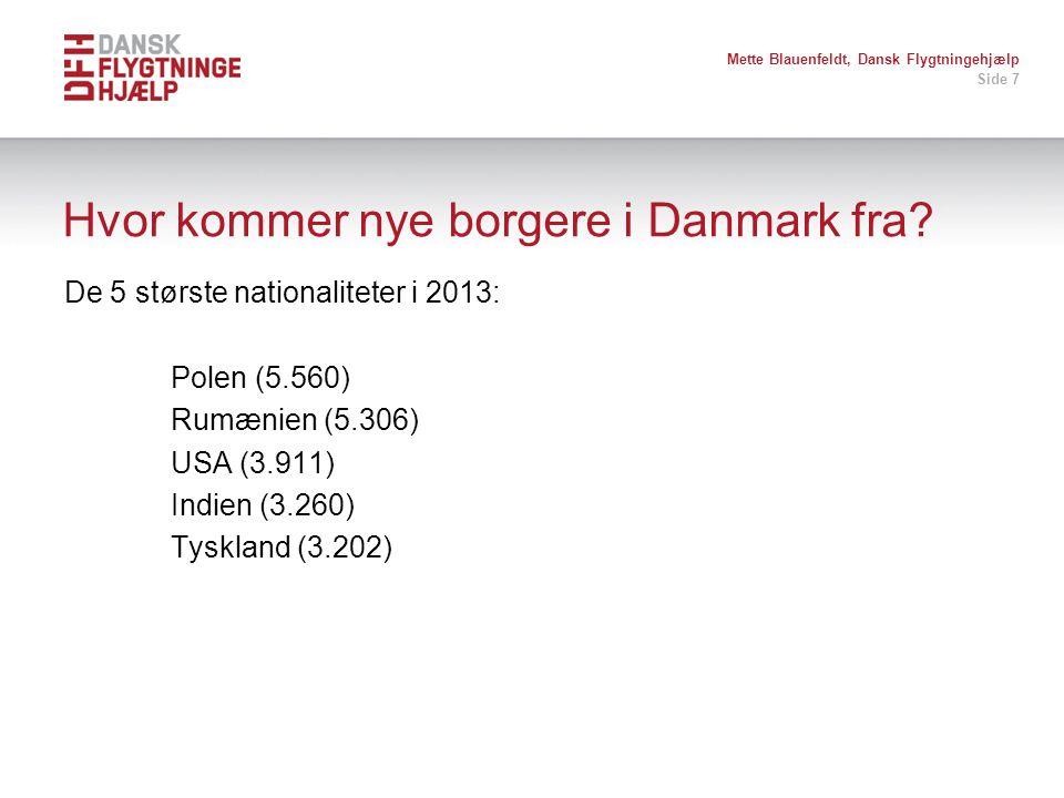 Hvor kommer nye borgere i Danmark fra
