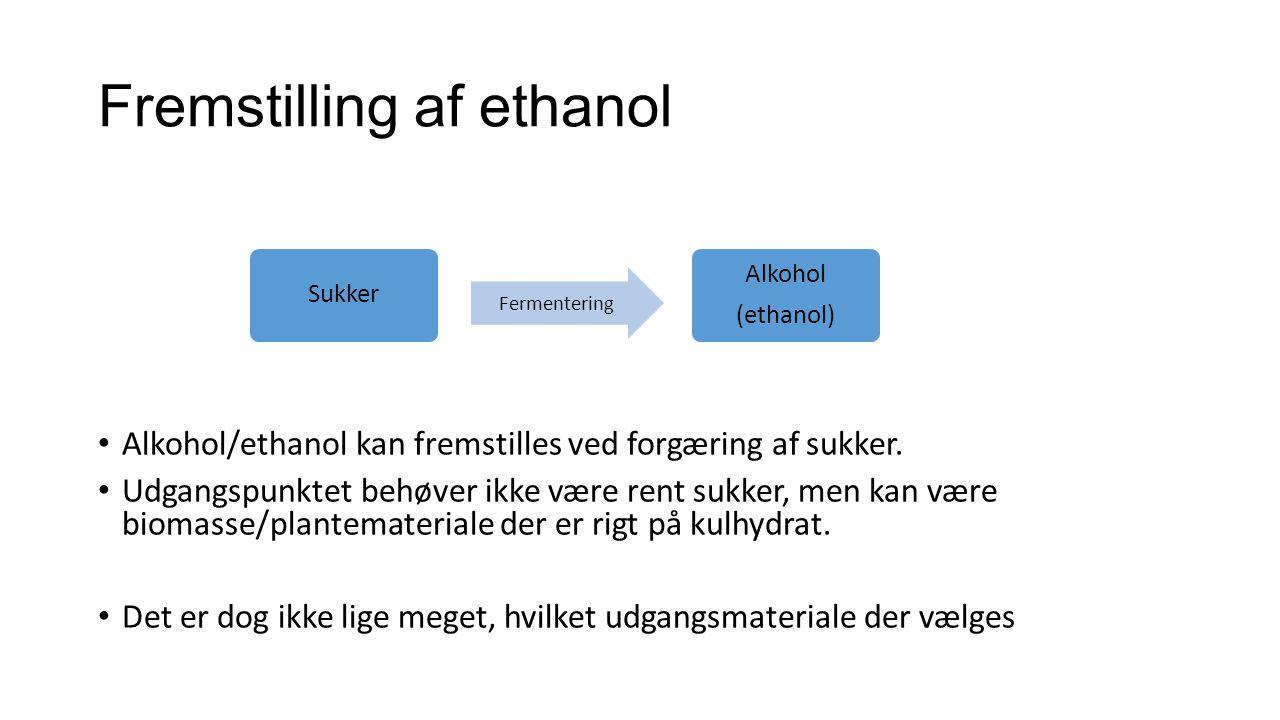 Fremstilling af ethanol