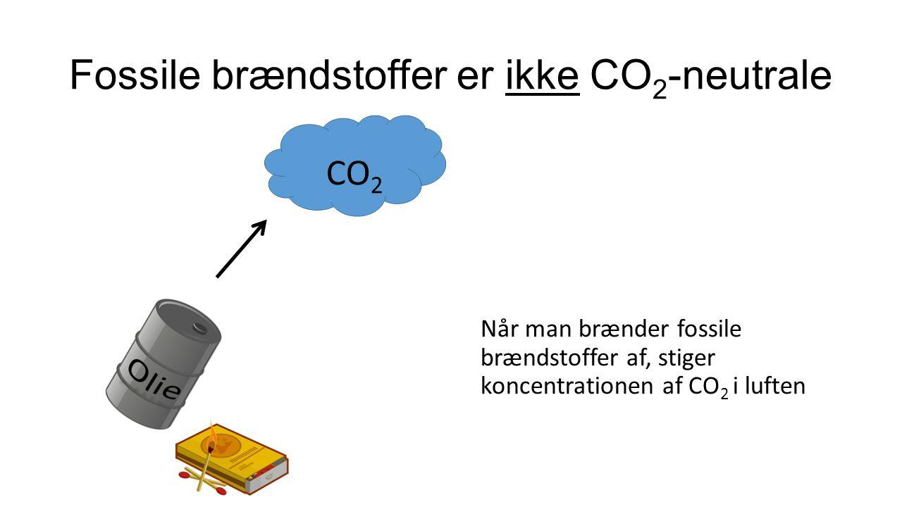 Fossile brændstoffer er ikke CO2-neutrale