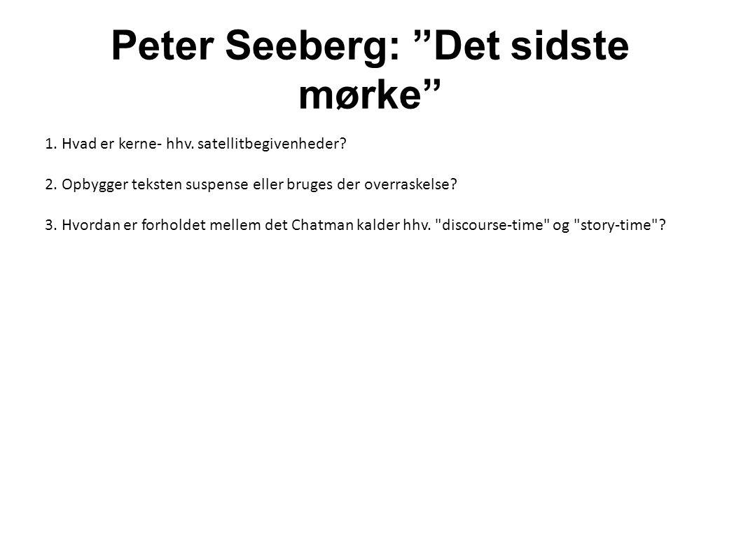 Peter Seeberg: Det sidste mørke