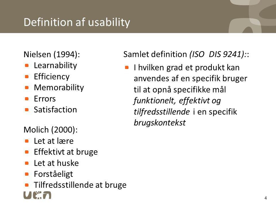 Definition af usability