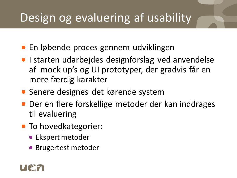 Design og evaluering af usability