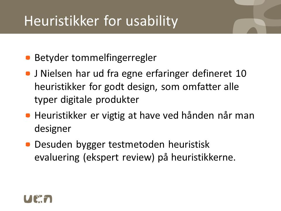Heuristikker for usability