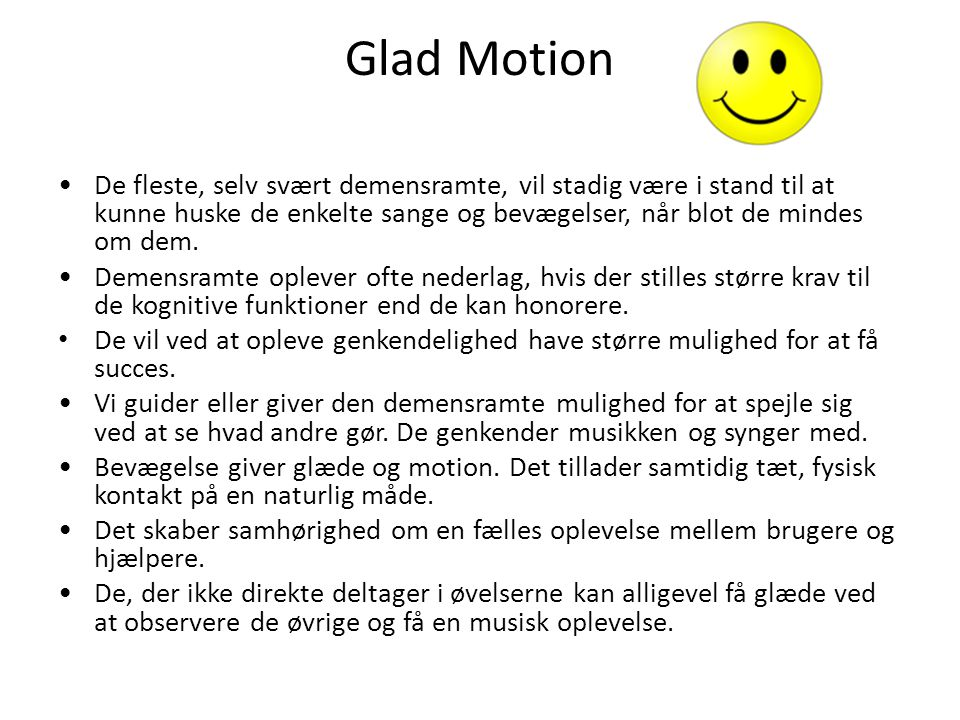 Glad Motion