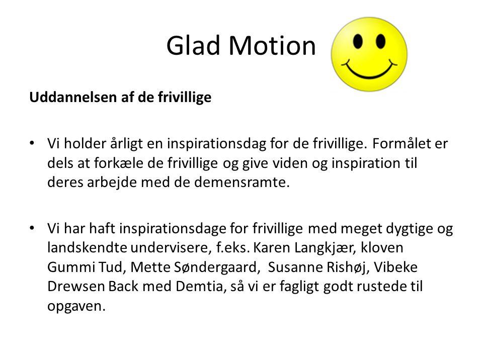 Glad Motion Uddannelsen af de frivillige