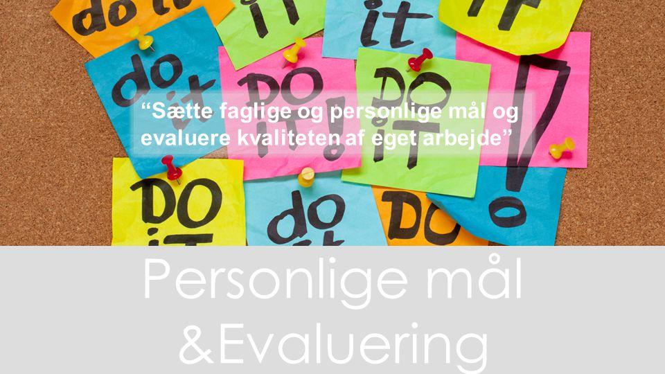 Personlige mål &Evaluering