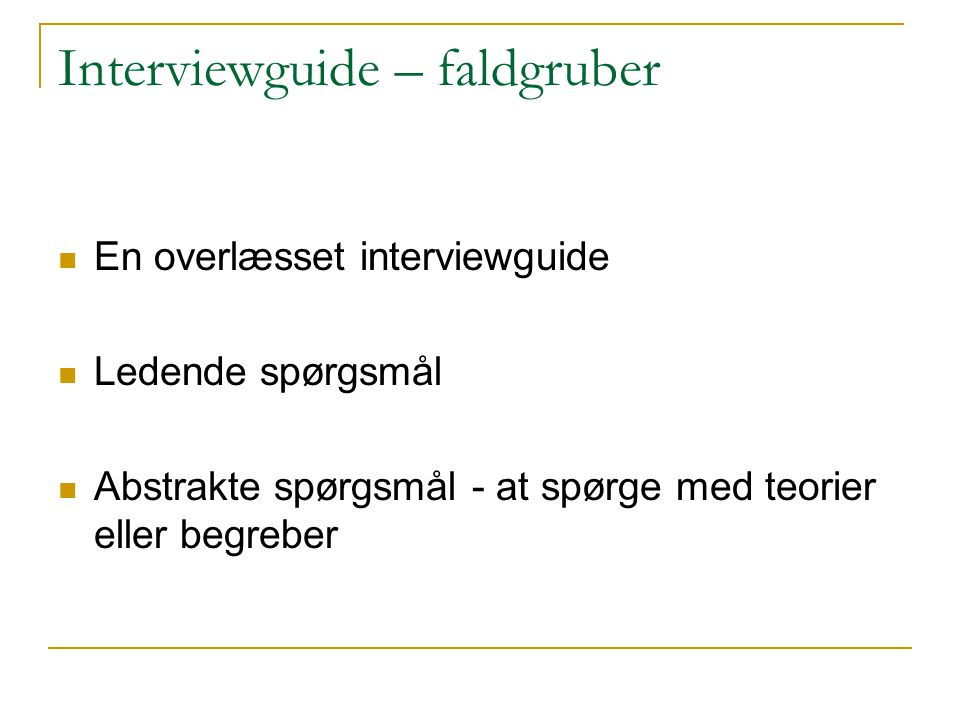 Interviewguide – faldgruber