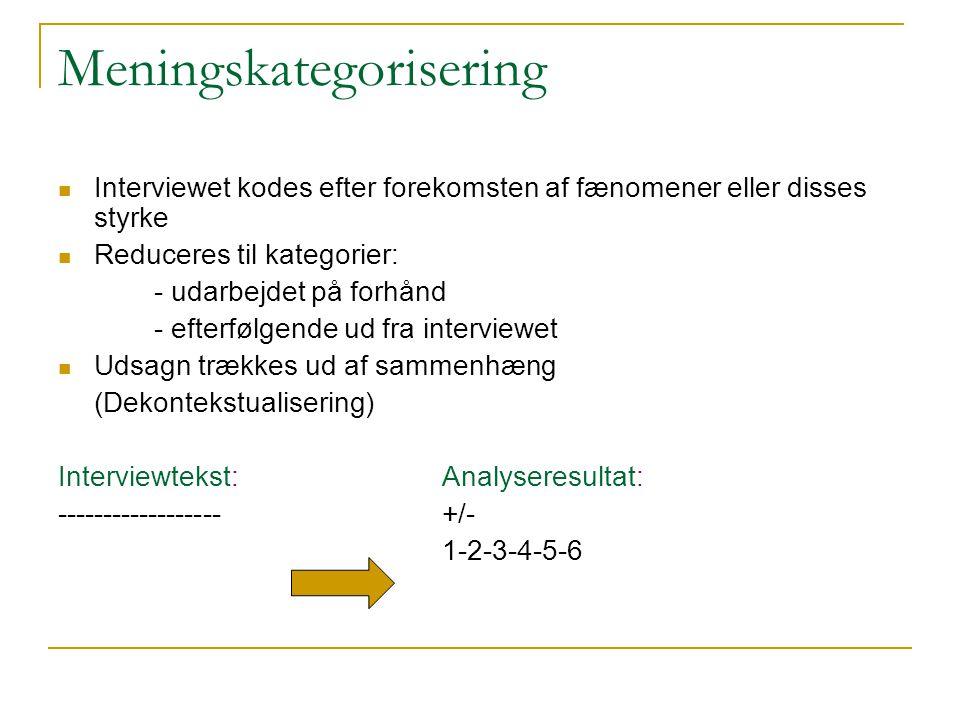 Meningskategorisering