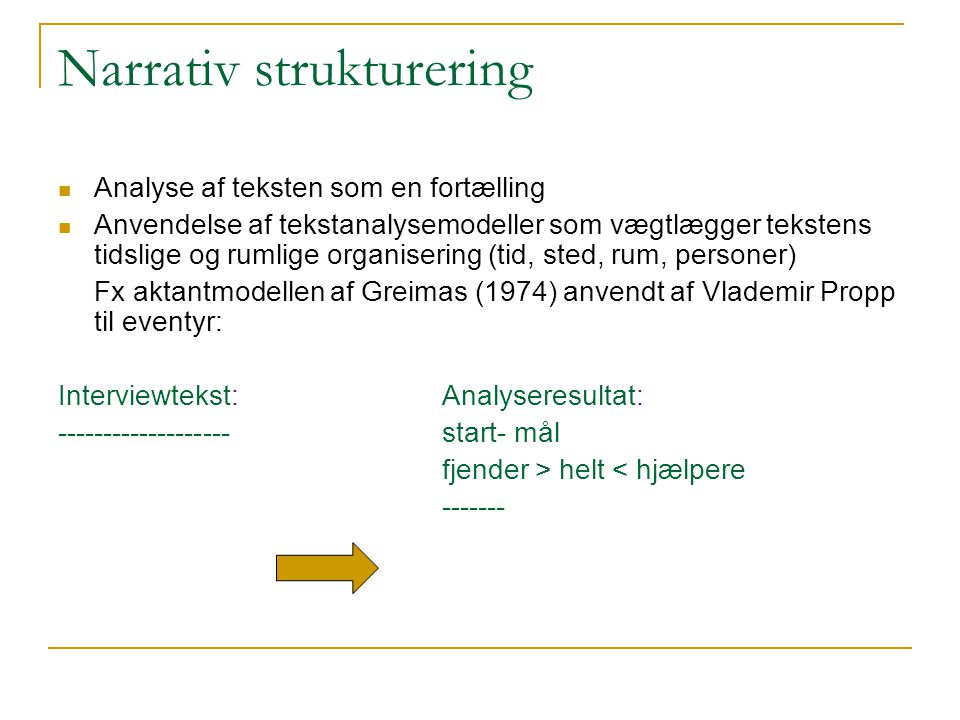 Narrativ strukturering