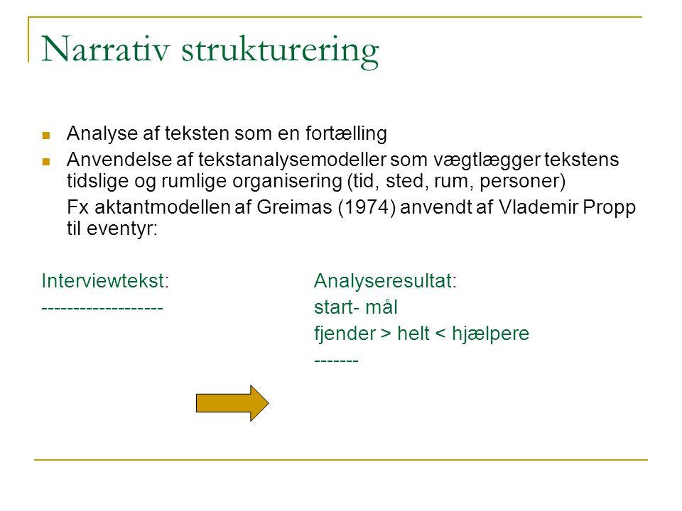 Narrativ strukturering