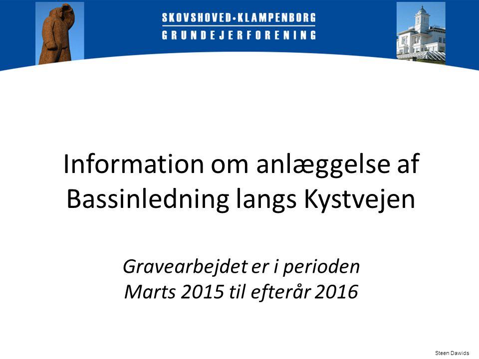 Information om anlæggelse af Bassinledning langs Kystvejen