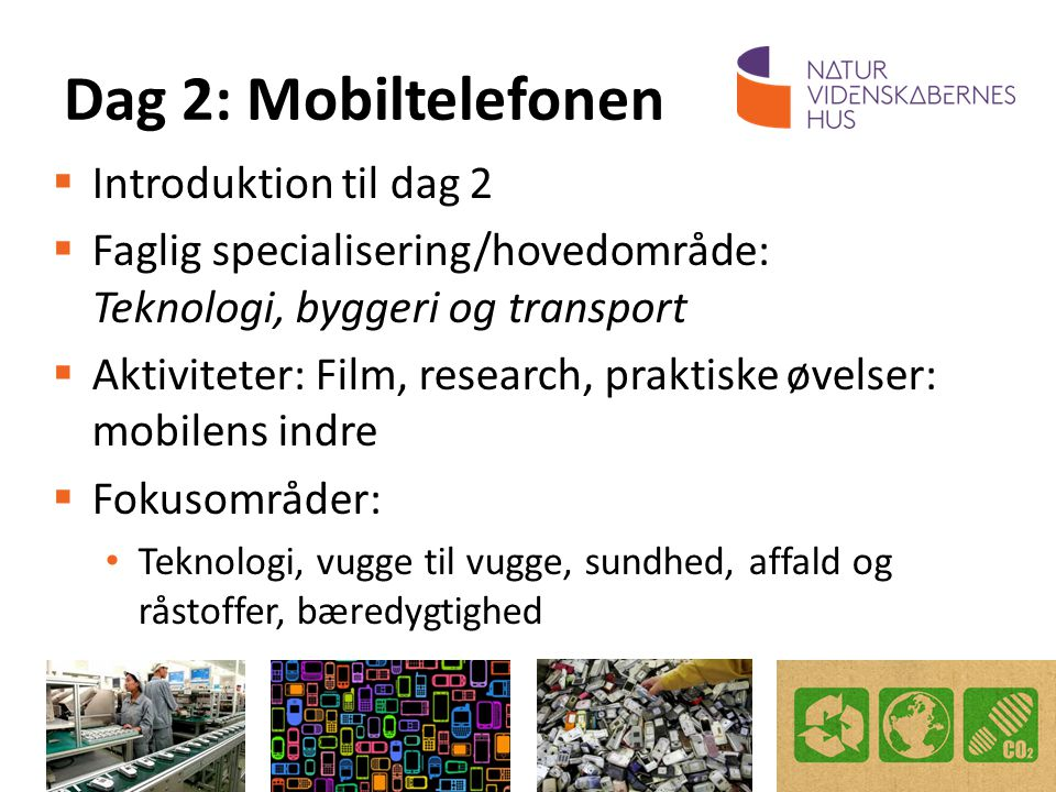Dag 2: Mobiltelefonen Introduktion til dag 2