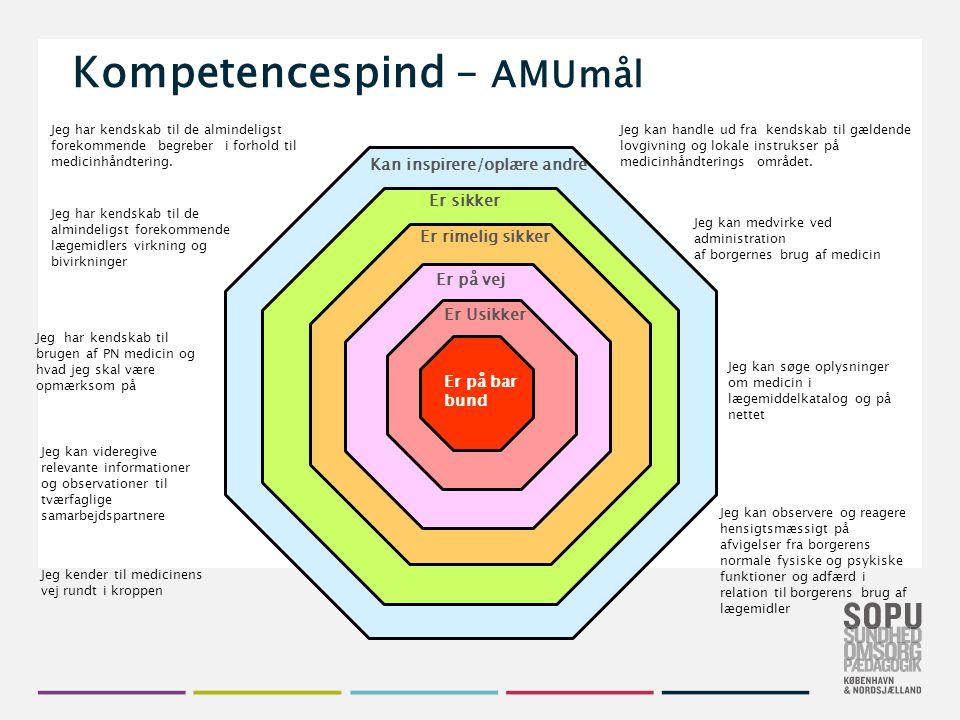 Kompetencespind – AMUmål