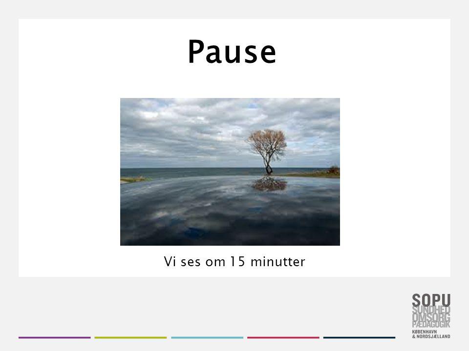 Pause Vi ses om 15 minutter