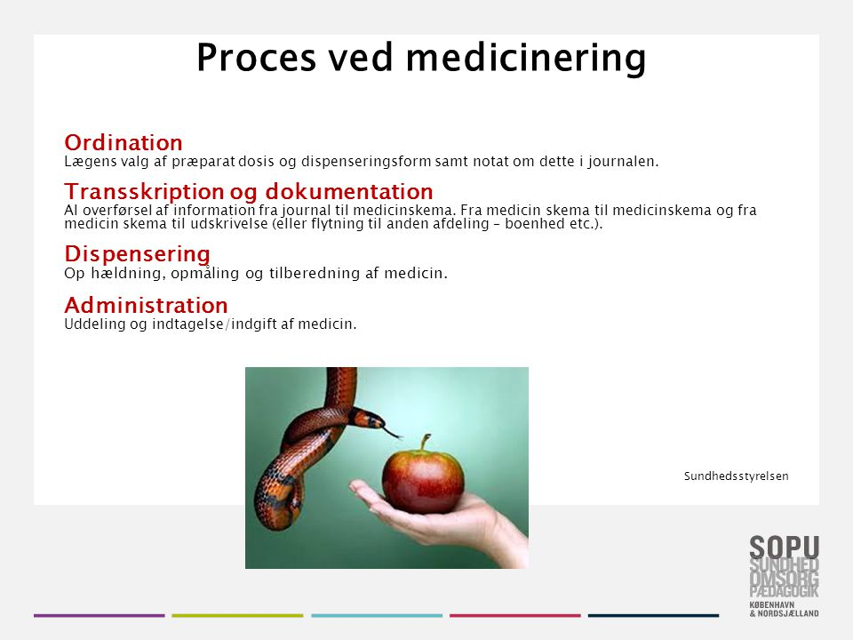Proces ved medicinering