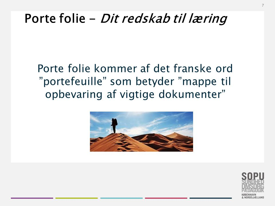 Porte folie - Dit redskab til læring