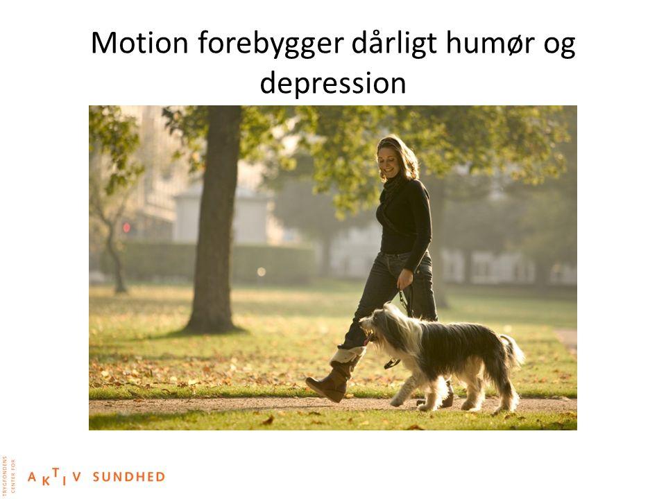 Motion forebygger dårligt humør og depression