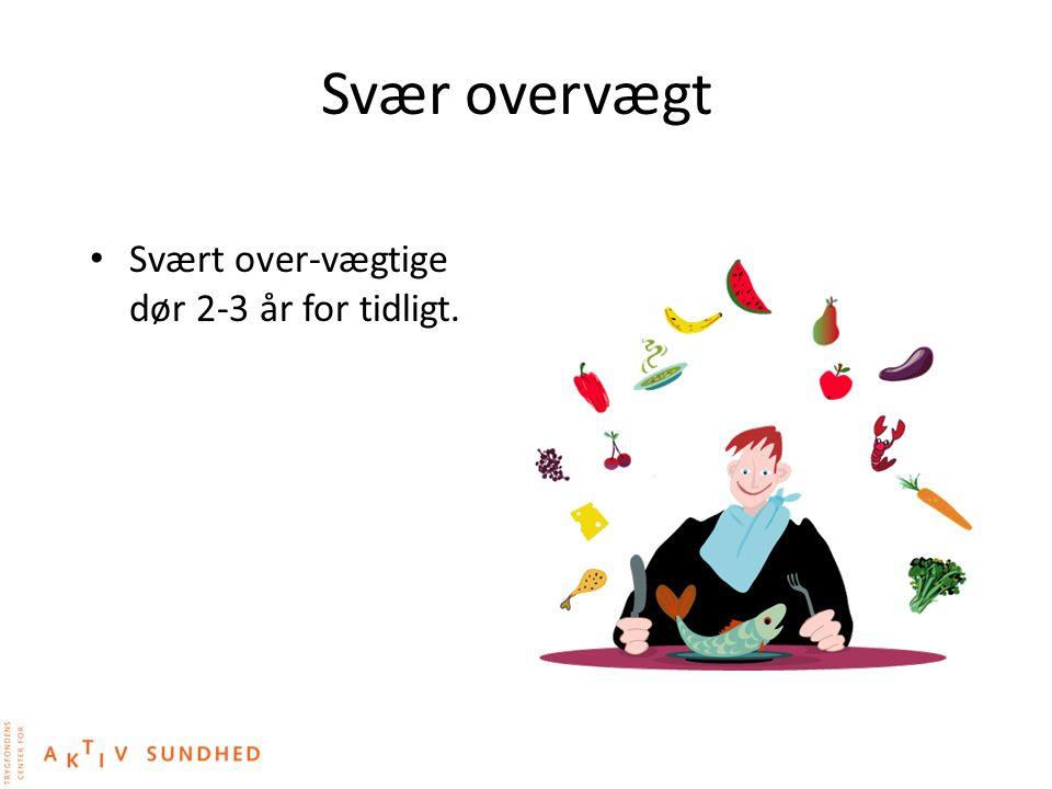 Svær overvægt Svært over-vægtige dør 2-3 år for tidligt.