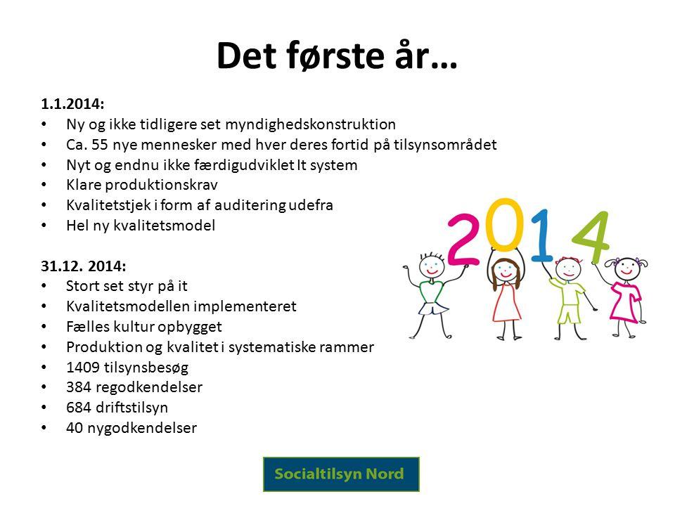 Det første år… 1.1.2014: Ny og ikke tidligere set myndighedskonstruktion. Ca. 55 nye mennesker med hver deres fortid på tilsynsområdet.