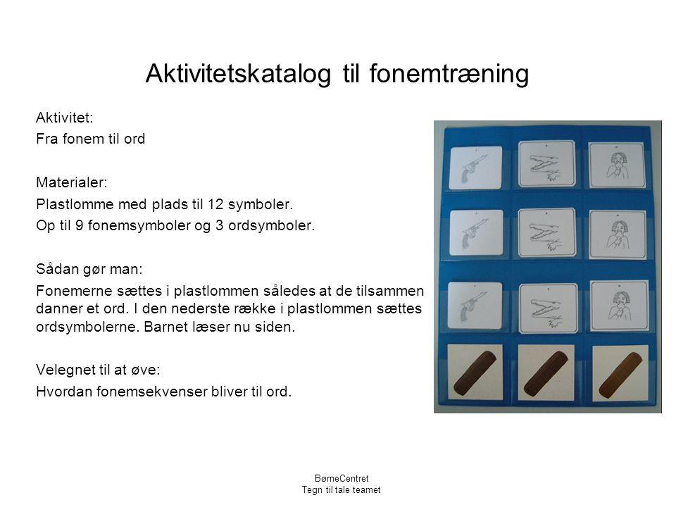 Aktivitetskatalog til fonemtræning