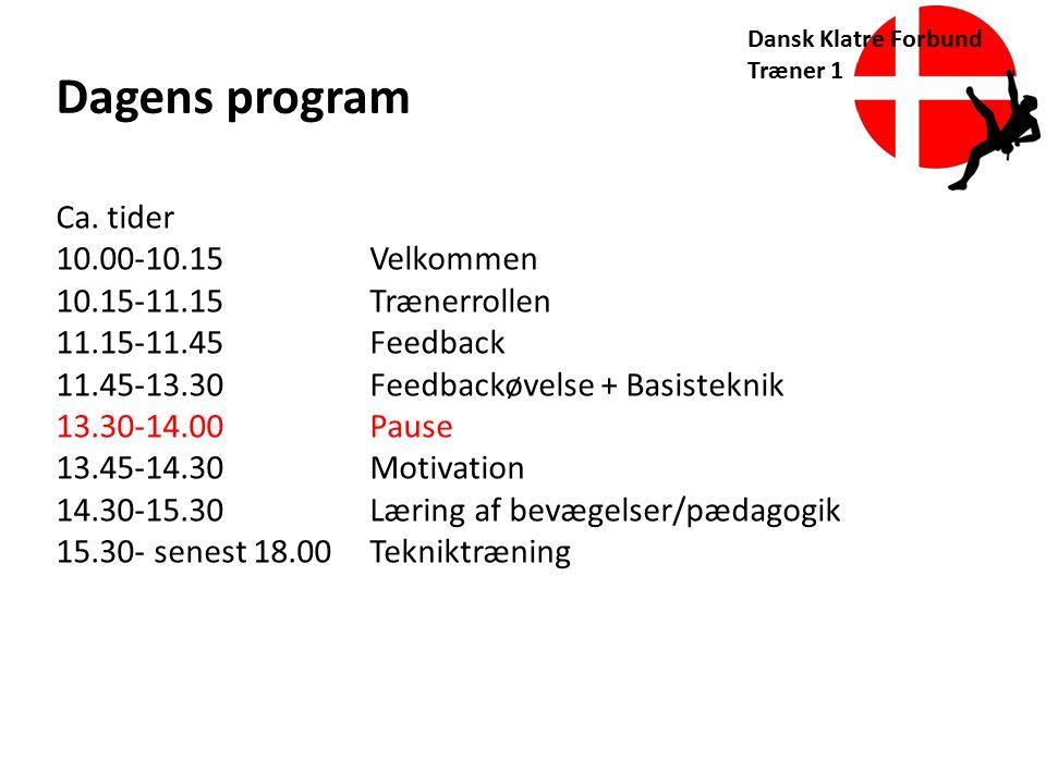 Dagens program Ca. tider 10.00-10.15 Velkommen