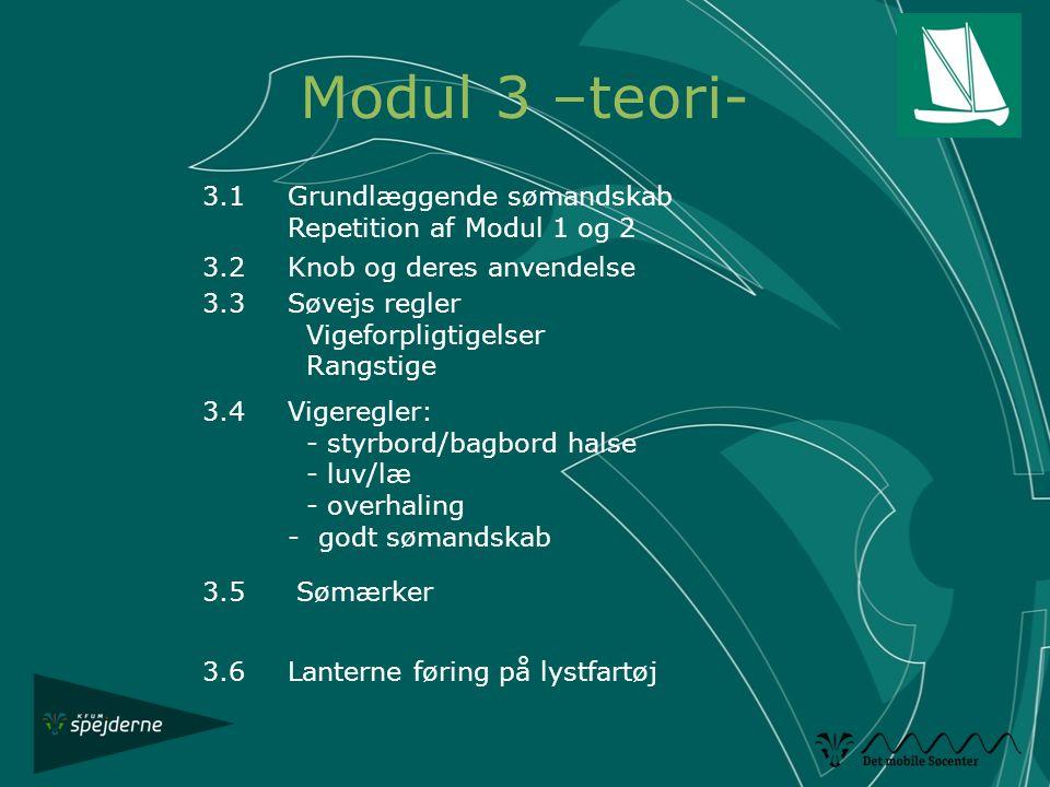 Modul 3 –teori- 3.1 Grundlæggende sømandskab