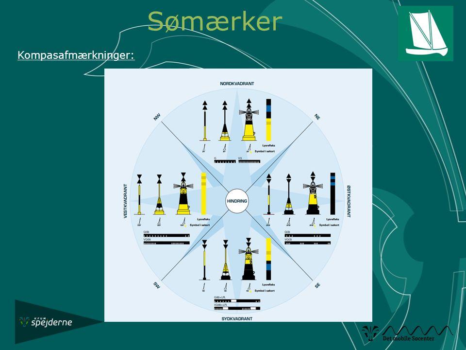 Sømærker Kompasafmærkninger: