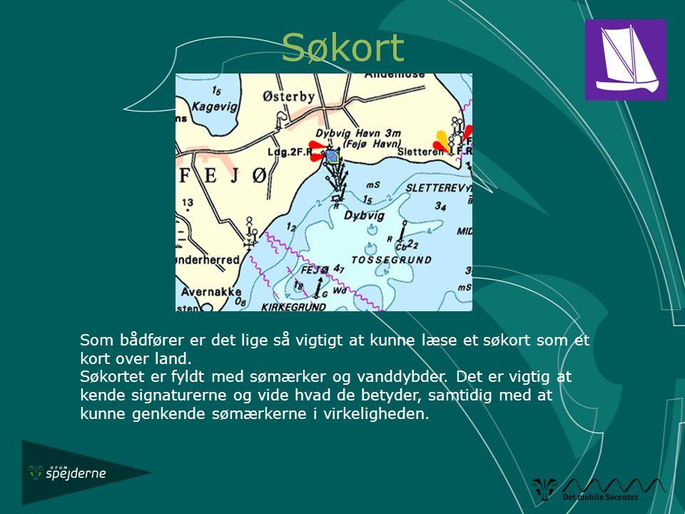 Søkort Som bådfører er det lige så vigtigt at kunne læse et søkort som et kort over land.