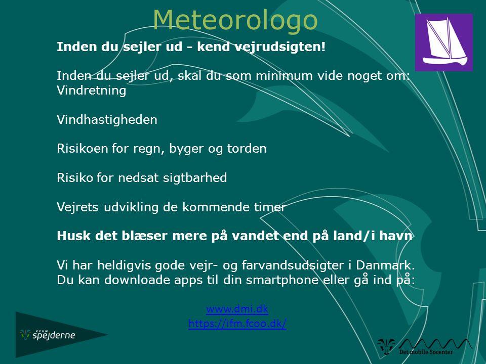 Meteorologo Inden du sejler ud - kend vejrudsigten!