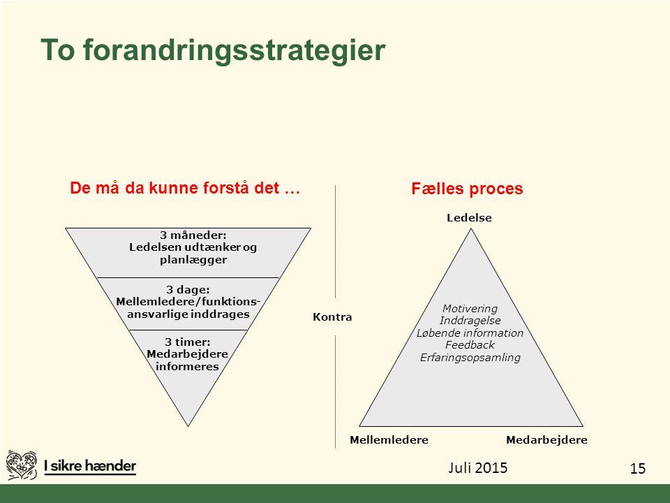To forandringsstrategier