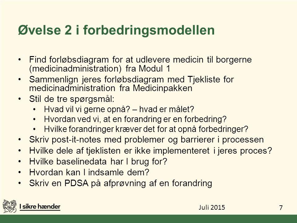 Øvelse 2 i forbedringsmodellen