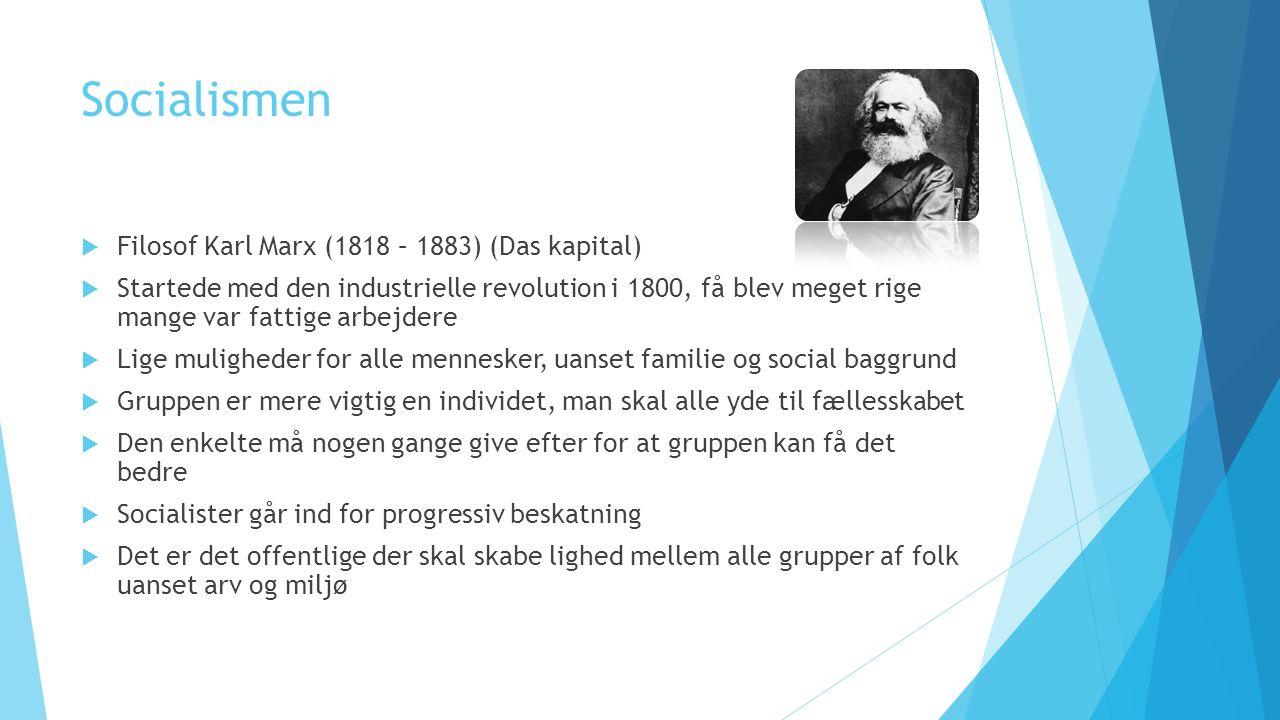 Socialismen Filosof Karl Marx (1818 – 1883) (Das kapital)