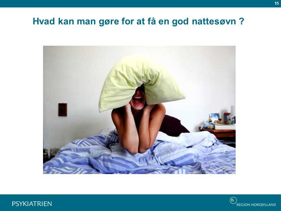 Hvad kan man gøre for at få en god nattesøvn