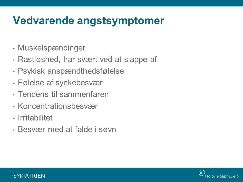 Vedvarende angstsymptomer