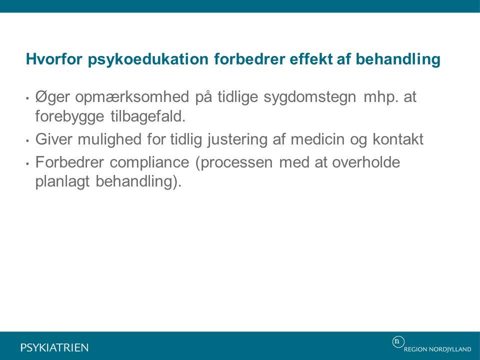 Hvorfor psykoedukation forbedrer effekt af behandling