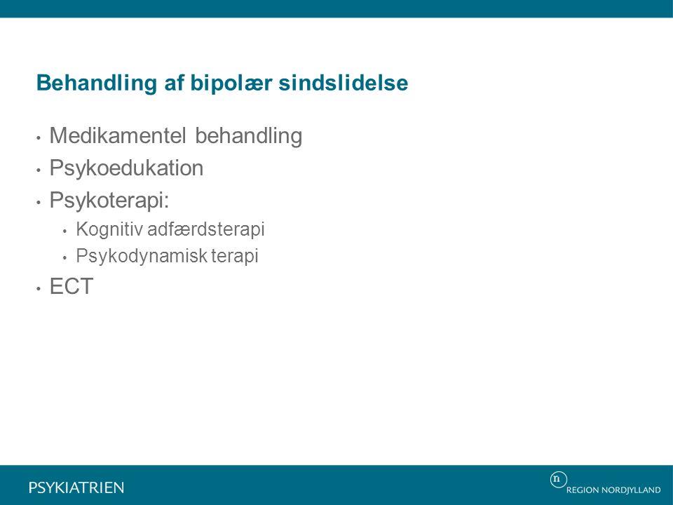 Behandling af bipolær sindslidelse
