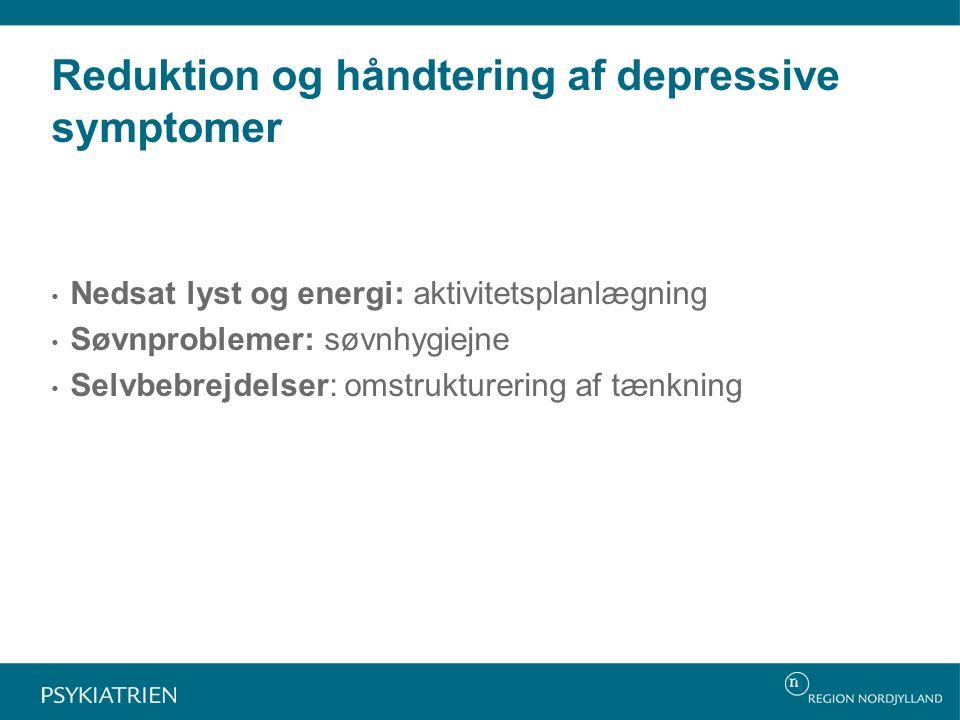 Reduktion og håndtering af depressive symptomer
