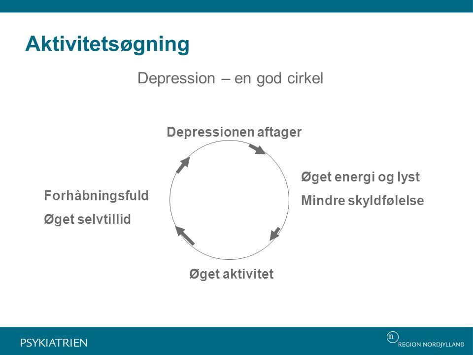 Aktivitetsøgning Depression – en god cirkel Depressionen aftager