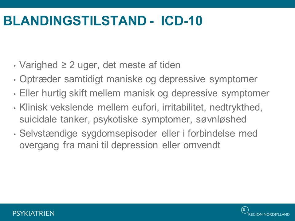 BLANDINGSTILSTAND - ICD-10