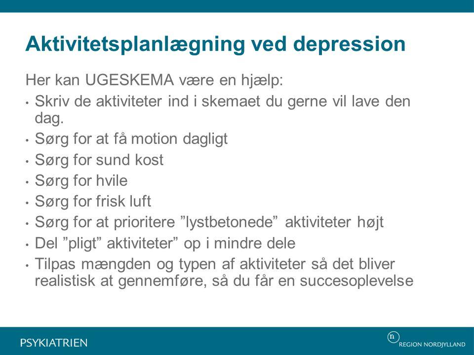 Aktivitetsplanlægning ved depression