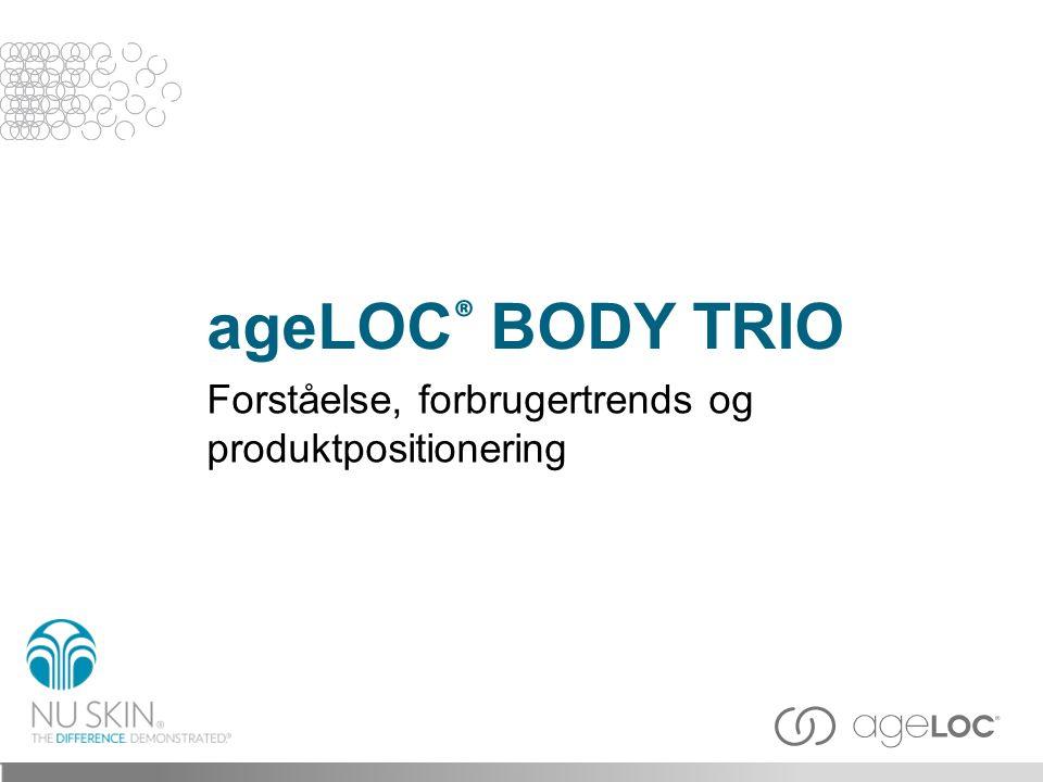 ageLOC® BODY TRIO Forståelse, forbrugertrends og produktpositionering