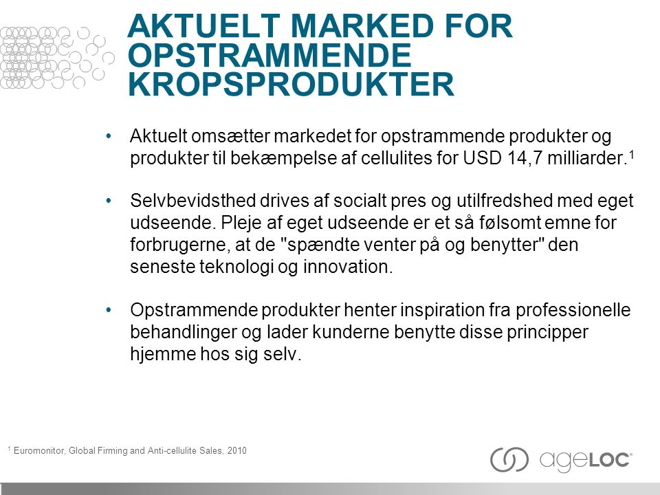 AKTUELT MARKED FOR OPSTRAMMENDE KROPSPRODUKTER