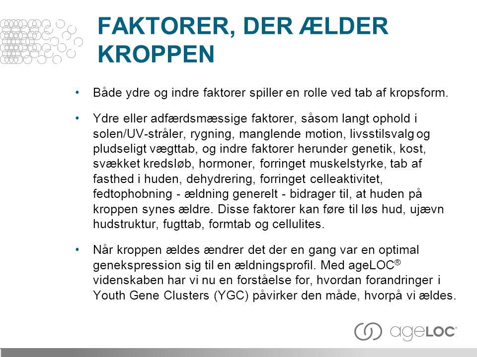 FAKTORER, DER ÆLDER KROPPEN