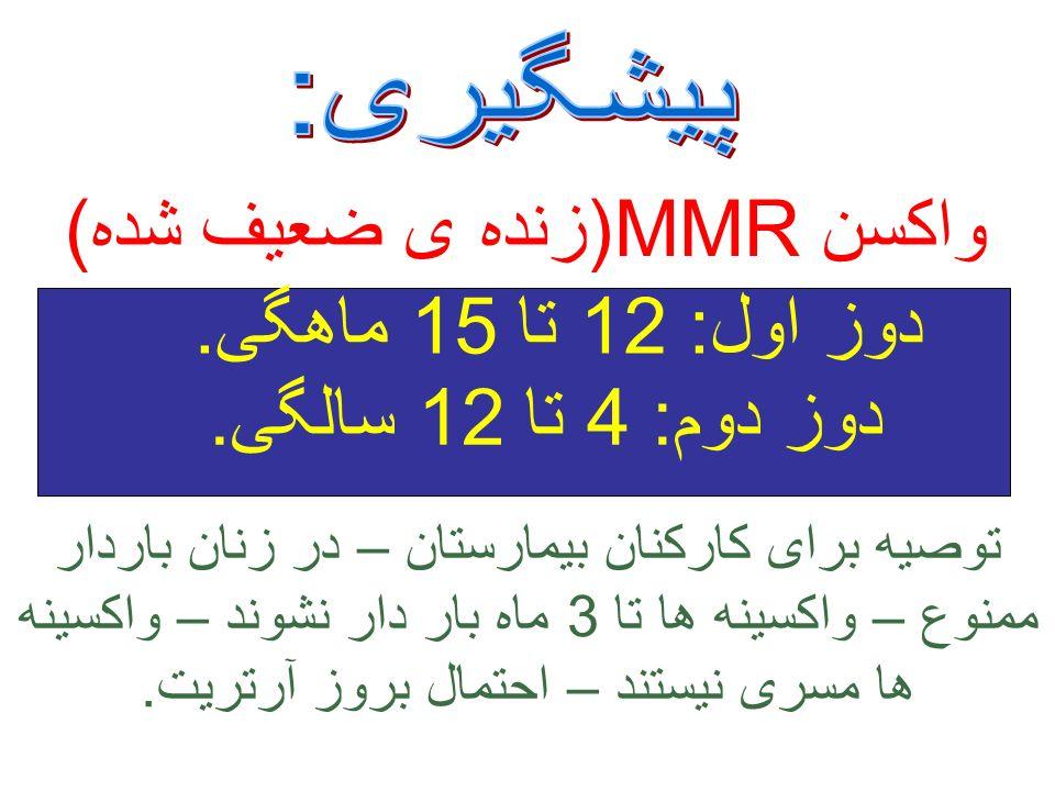 واکسن MMR(زنده ی ضعیف شده)