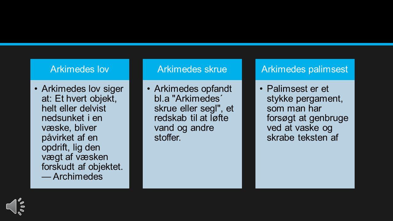 Arkimedes lov