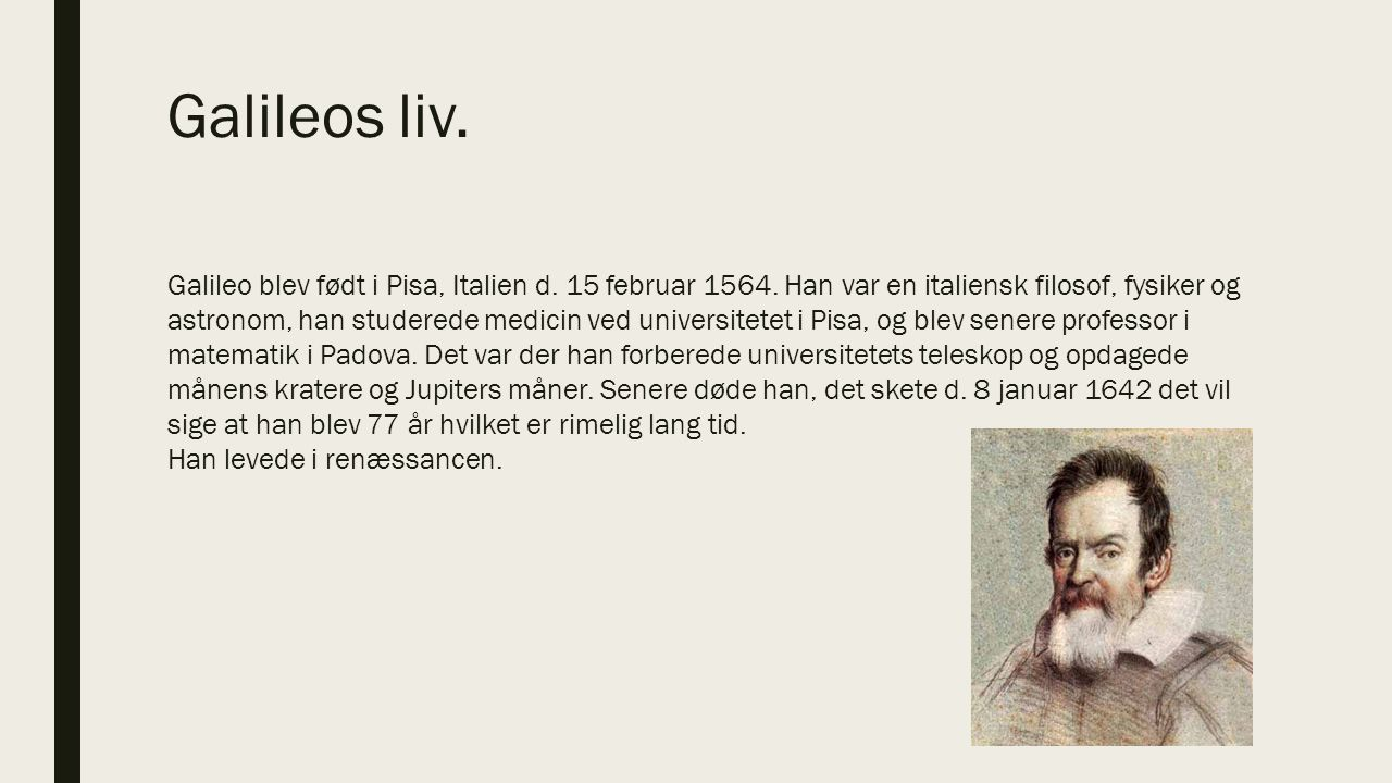 Galileos liv.