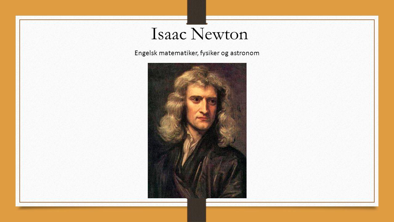 Engelsk matematiker, fysiker og astronom
